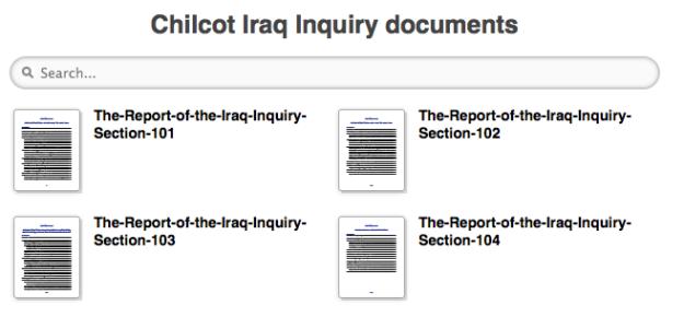 chilcot inquiry search