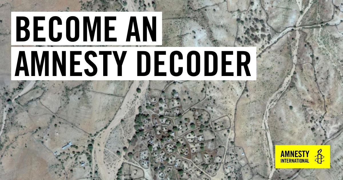 Amnesty Decoders #Darfur – Redvince's Weblog
